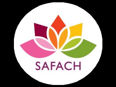SAFACH logo in white circle
